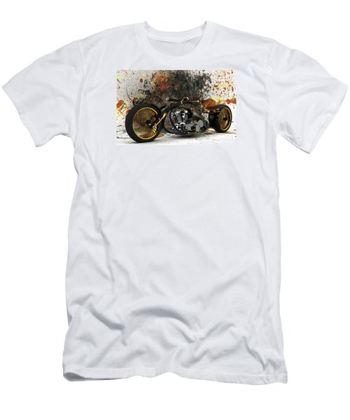 Custom Chopper Gold Men's T-Shirt (Slim Fit) by Louis Ferreira