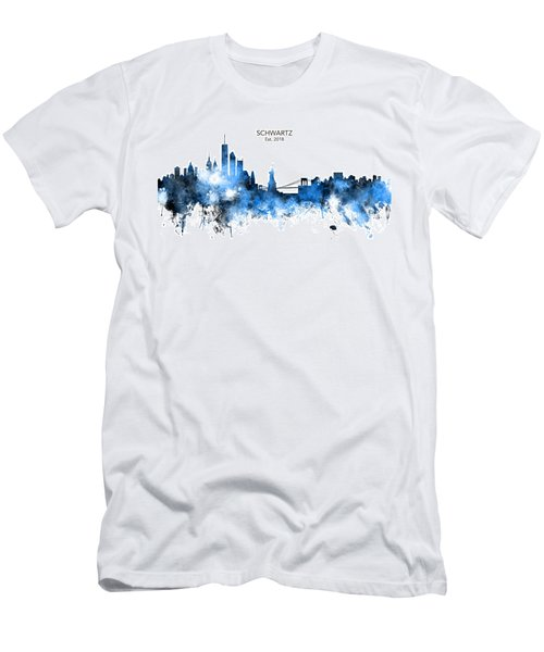 Custom New York Skyline Men's T-Shirt (Athletic Fit)