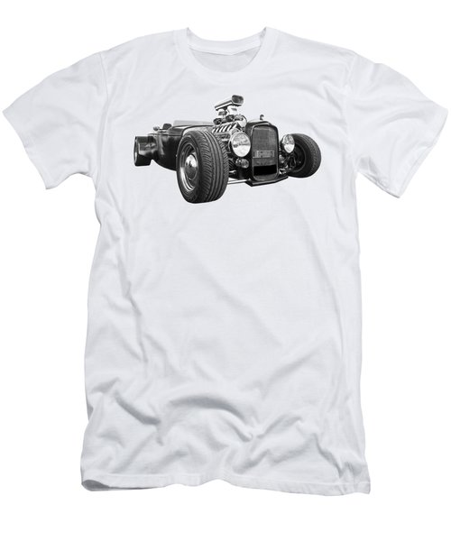 Custom Rod - Black And White Men's T-Shirt (Athletic Fit)