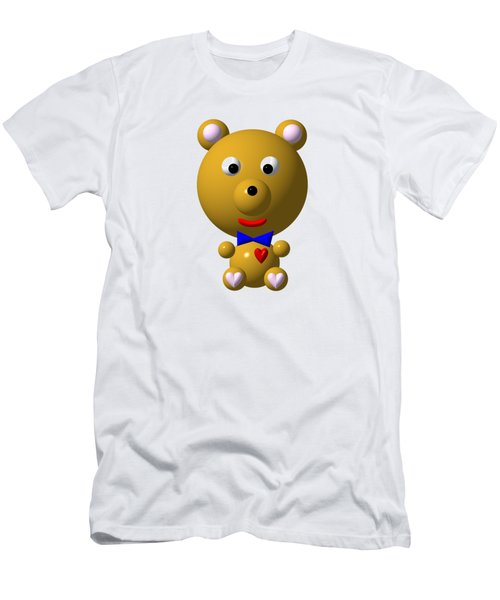 Cute Bear With Bow Tie Men's T-Shirt (Slim Fit) by Rose Santuci-Sofranko