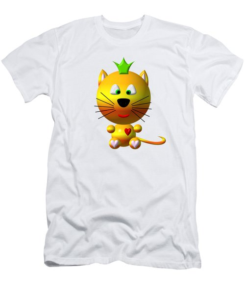 Cute Cat With Crown Men's T-Shirt (Slim Fit) by Rose Santuci-Sofranko