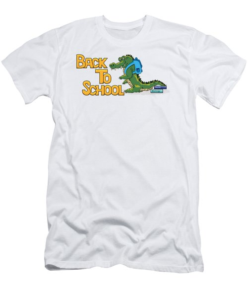 Cute Crocodile With Briefcase Men's T-Shirt (Athletic Fit)