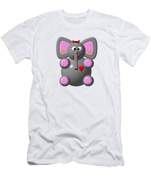 Cute Elephant Wearing Earrings Men's T-Shirt (Athletic Fit)