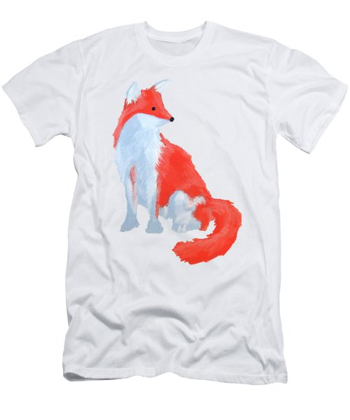 Cute Fox With Fluffy Tail Men's T-Shirt (Athletic Fit)
