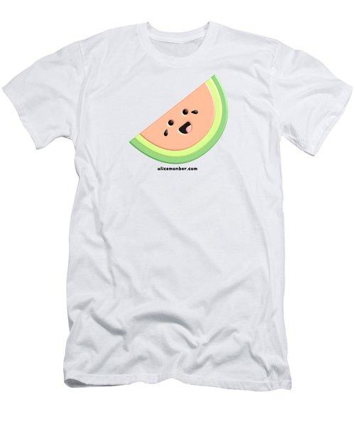 Cute Happy Watermelon  Men's T-Shirt (Athletic Fit)