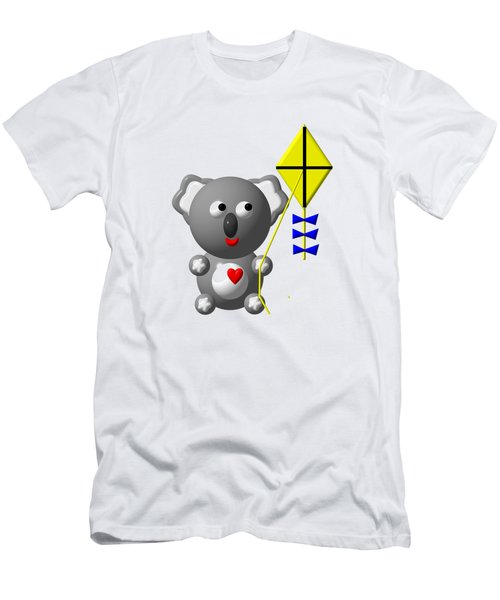 Cute Koala With Kite Men's T-Shirt (Slim Fit) by Rose Santuci-Sofranko