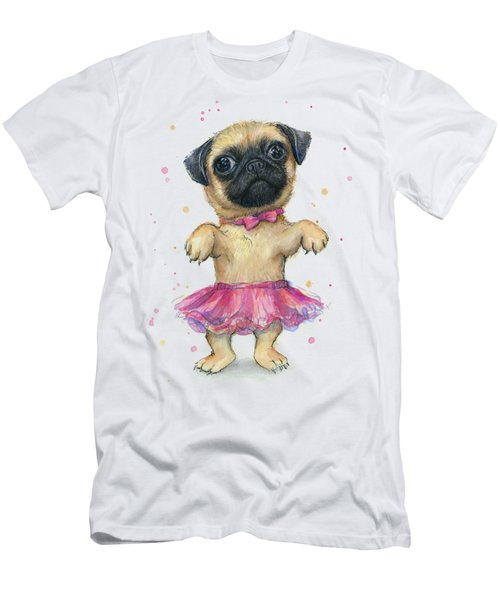 Cute Pug Puppy Men's T-Shirt (Athletic Fit)