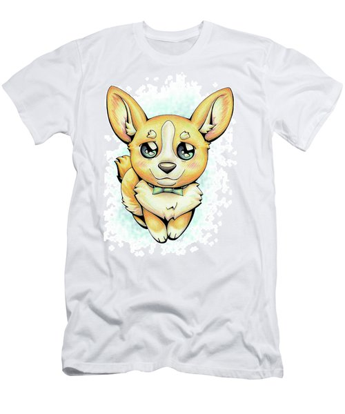 Cutie Corgi Men's T-Shirt (Athletic Fit)