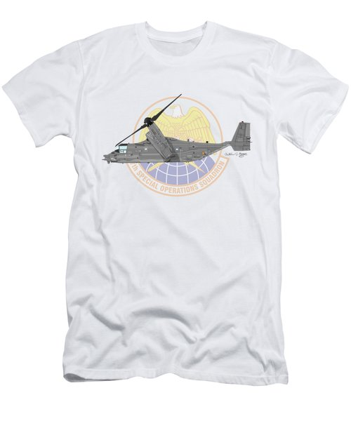 Cv-22b Osprey 7sos Men's T-Shirt (Slim Fit) by Arthur Eggers