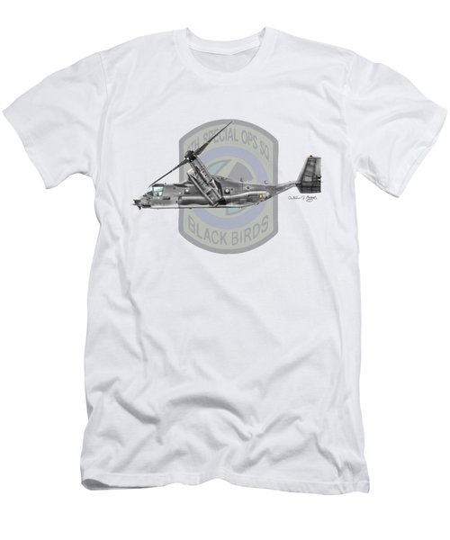 Cv-22b Osprey 8sos Men's T-Shirt (Slim Fit) by Arthur Eggers