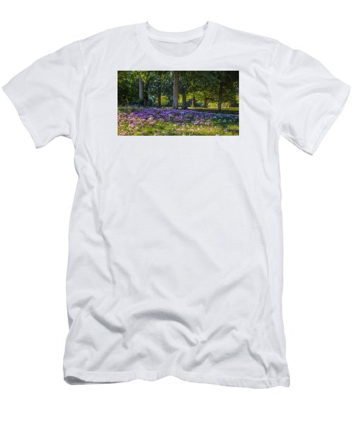 Cyclamen Under Trees Men's T-Shirt (Athletic Fit)