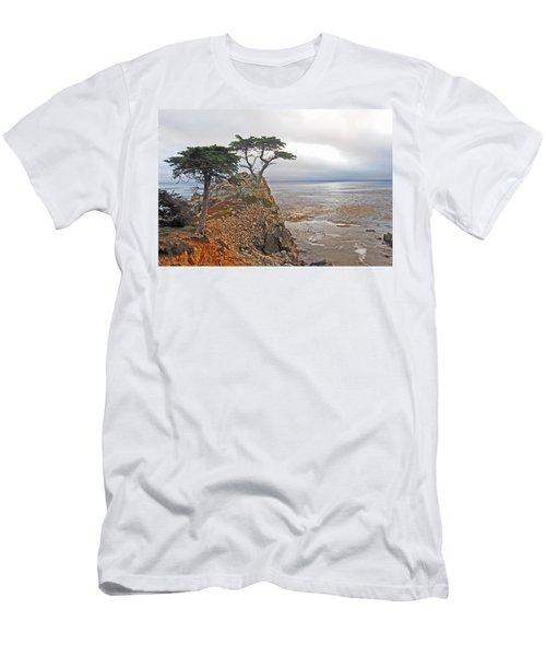 Cypress Tree At Pebble Beach Men's T-Shirt (Athletic Fit)