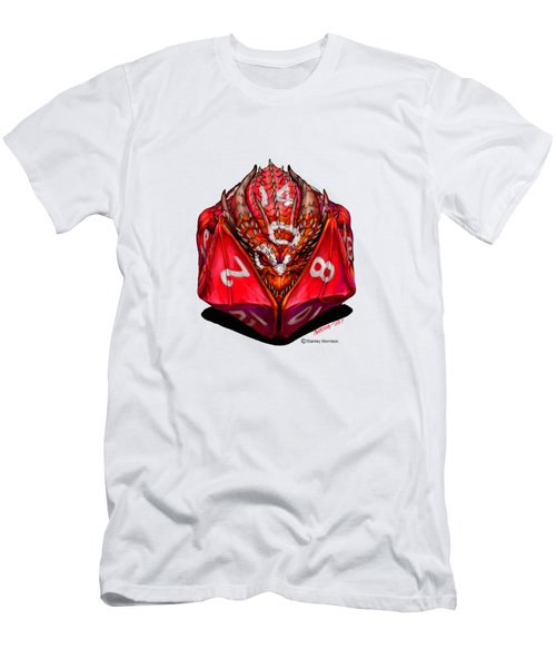 D20 Dragon T Shirt Men's T-Shirt (Athletic Fit)
