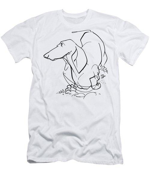 Dachshund Gesture Sketch Men's T-Shirt (Athletic Fit)