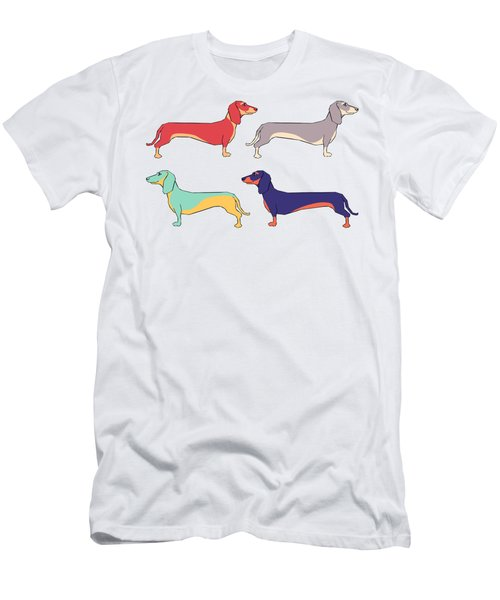Dachshunds Men's T-Shirt (Slim Fit) by Kelly Jade King