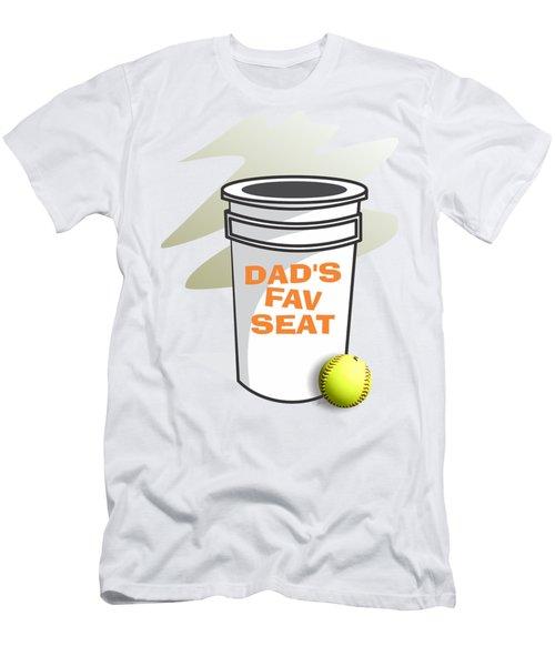 Dad's Fav Seat Men's T-Shirt (Slim Fit) by Jerry Watkins