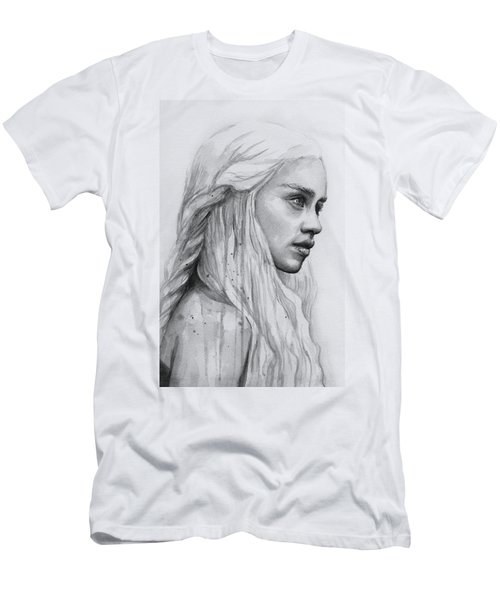 Daenerys Watercolor Portrait Men's T-Shirt (Athletic Fit)