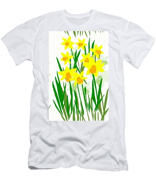 Daffodils Drawing Men's T-Shirt (Athletic Fit)