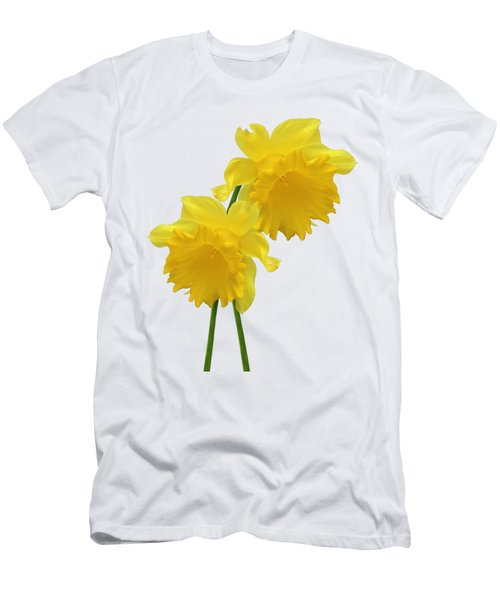 Daffodils On White Men's T-Shirt (Athletic Fit)