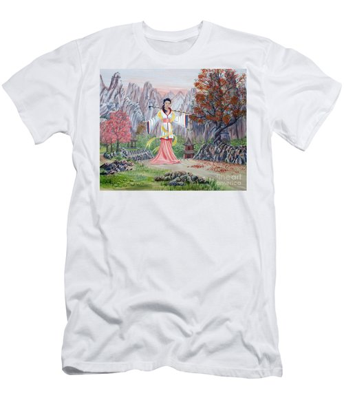 Men's T-Shirt (Slim Fit) featuring the painting Dai Yuu by Anthony Lyon