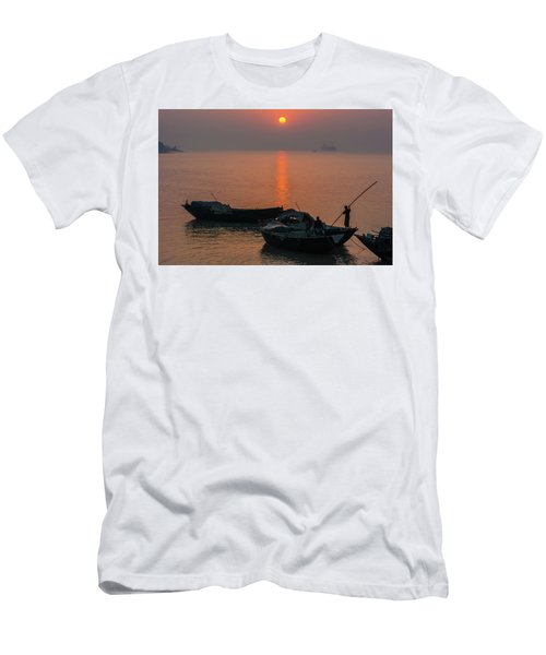 Daily Life Of Boatman Men's T-Shirt (Athletic Fit)