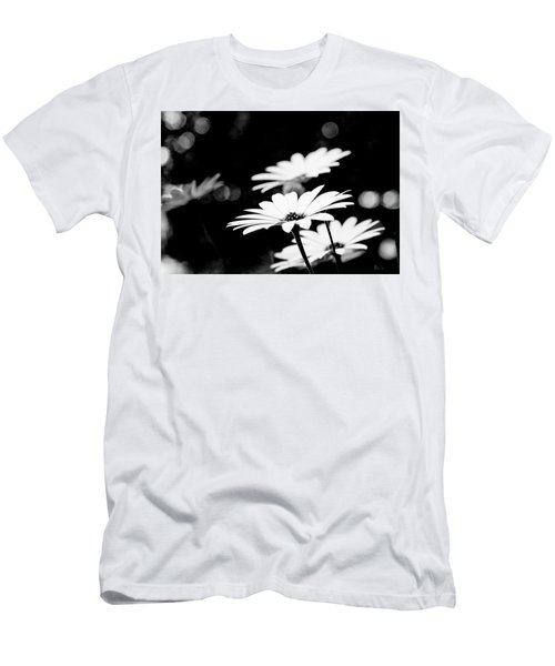Daisies In Black And White Men's T-Shirt (Athletic Fit)