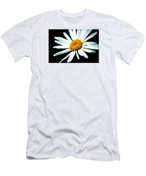 Men's T-Shirt (Slim Fit) featuring the photograph Daisy Flower - White Sun by Alexander Senin