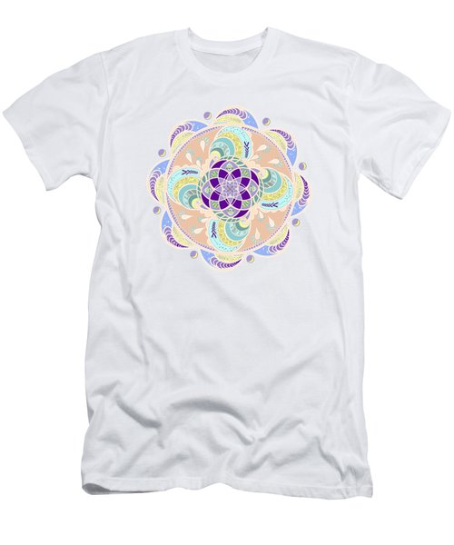 Men's T-Shirt (Slim Fit) featuring the digital art Daisy Lotus Meditation by Deborah Smith