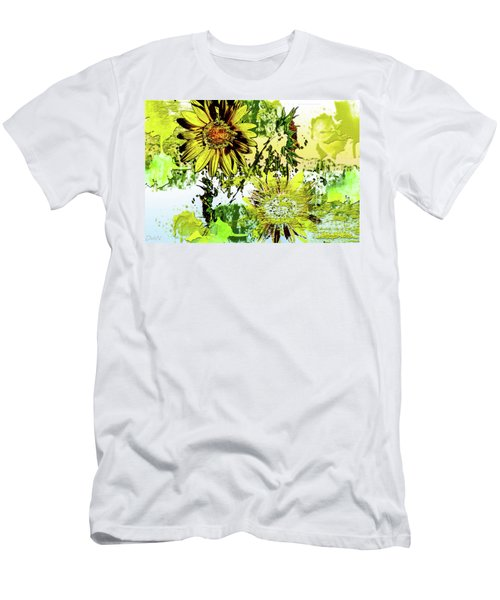 Sunflower On Water Men's T-Shirt (Slim Fit) by Deborah Nakano