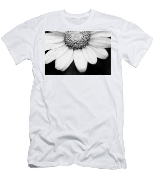 Daisy Smile - Black And White Men's T-Shirt (Athletic Fit)