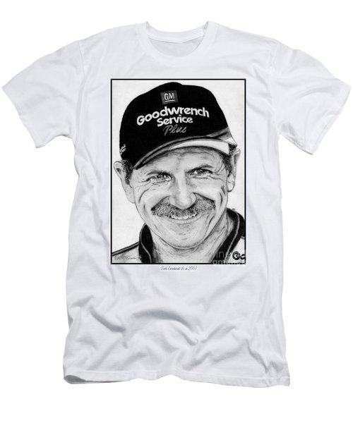 Men's T-Shirt (Slim Fit) featuring the drawing Dale Earnhardt Sr In 2001 by J McCombie