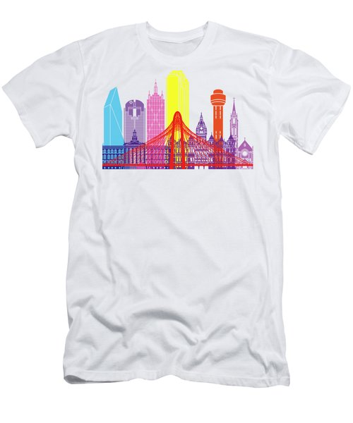 Dallas Skyline Pop Men's T-Shirt (Slim Fit) by Pablo Romero