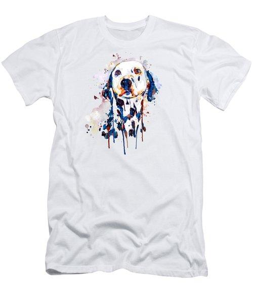 Dalmatian Head Men's T-Shirt (Slim Fit) by Marian Voicu