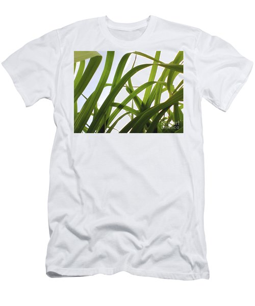 Men's T-Shirt (Slim Fit) featuring the photograph Dancing Bamboo by Rebecca Harman
