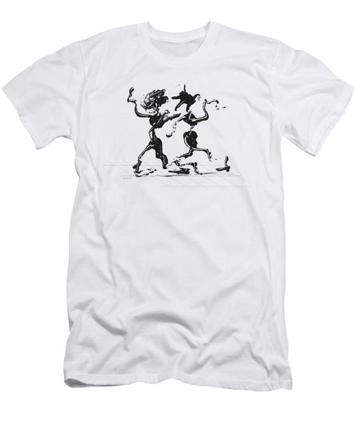 Dancing Couple 1 Men's T-Shirt (Athletic Fit)
