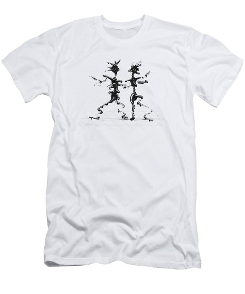 Dancing Couple 2 Men's T-Shirt (Athletic Fit)