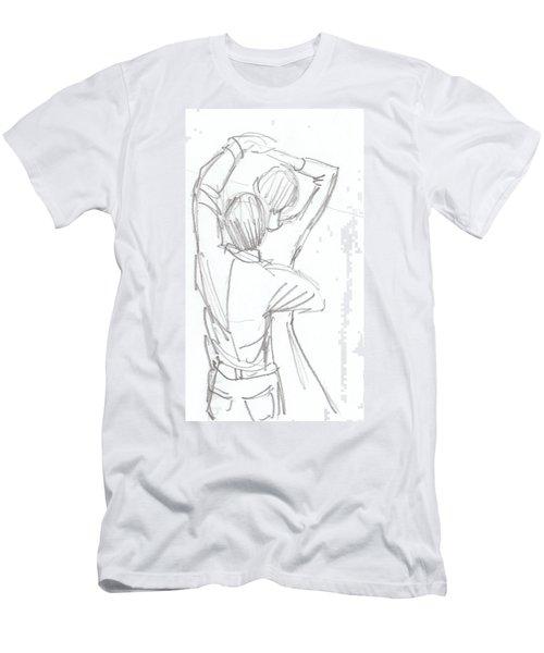 Dancing Couple Pencil Sketch Men's T-Shirt (Athletic Fit)