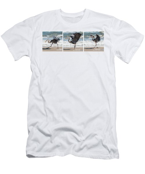 Dancing Heron Triptych Men's T-Shirt (Athletic Fit)
