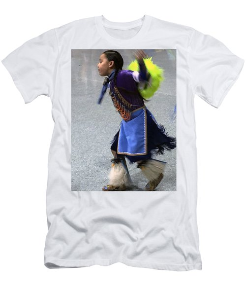 Dancing Native Child Men's T-Shirt (Athletic Fit)