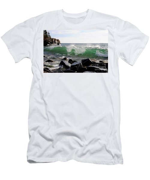 Dancing Waves Men's T-Shirt (Slim Fit) by Sandra Updyke