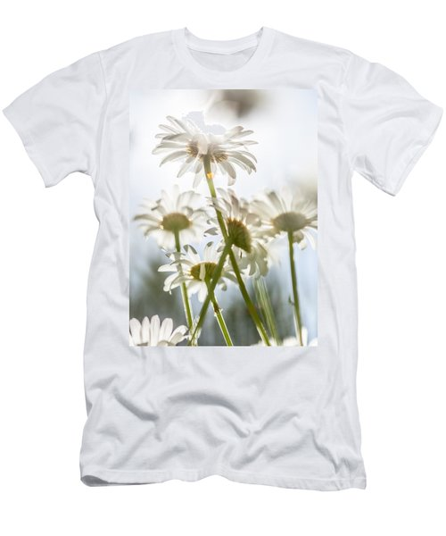 Dancing With Daisies Men's T-Shirt (Slim Fit) by Aaron Aldrich