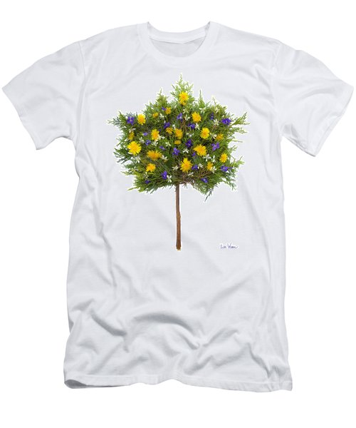 Men's T-Shirt (Slim Fit) featuring the photograph Dandelion Violet Tree by Lise Winne