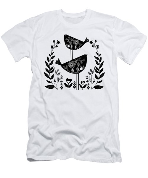 Danish Birds Of Good Luck And Good Life Men's T-Shirt (Athletic Fit)