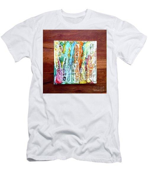 Danxia Water Falls Men's T-Shirt (Athletic Fit)