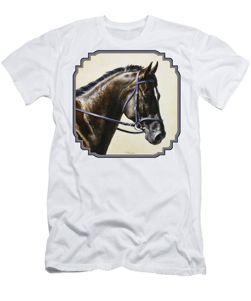 Dark Bay Dressage Horse Phone Case Men's T-Shirt (Athletic Fit)