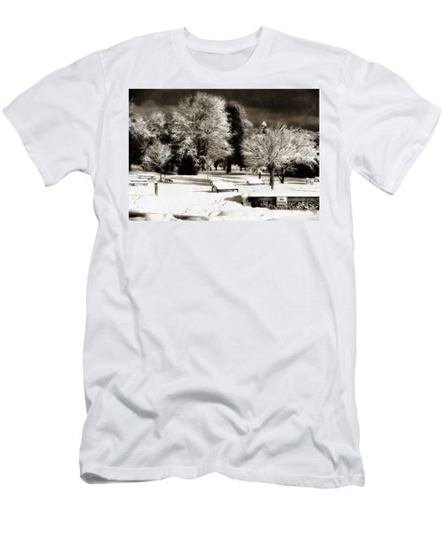 Dark Skies And Winter Park Men's T-Shirt (Athletic Fit)
