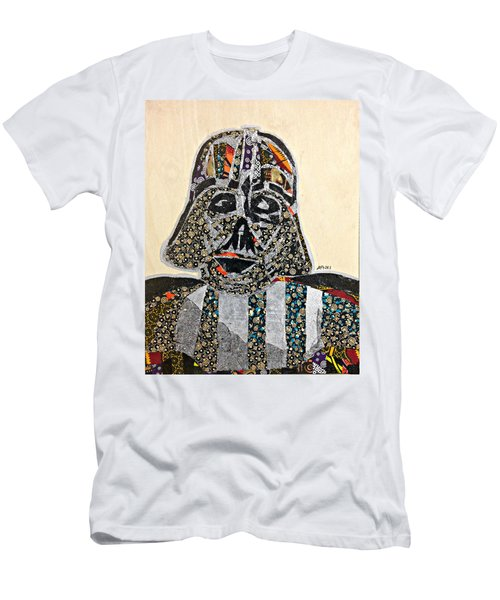 Men's T-Shirt (Athletic Fit) featuring the tapestry - textile Darth Vader Star Wars Afrofuturist Collection by Apanaki Temitayo M