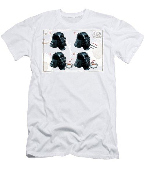 Men's T-Shirt (Slim Fit) featuring the digital art Darth Vader Tea Drinking Star Wars by Martin Davey