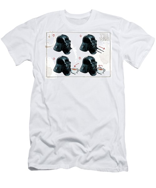 Darth Vader Tea Drinking Star Wars Men's T-Shirt (Athletic Fit)