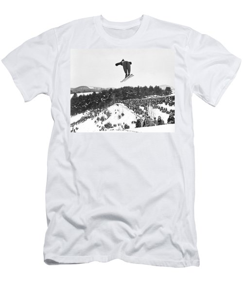 Dartmouth Carnival Ski Jumper Men's T-Shirt (Athletic Fit)